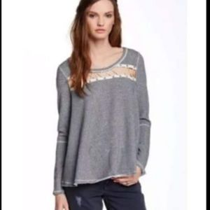 Free People Rope Lace Sweater